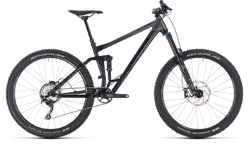 CUBE Stereo 160 Race 27.5 black´n´grey 2018