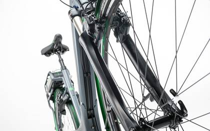 Detail image of Cube Travel Hybrid Pro RT 500 grey´n´flashgreen 2017 (16)