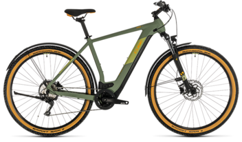 CUBE Cross Hybrid Pro 500 Allroad green´n´orange 2020