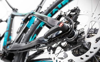 Detail image of Cube Stereo 160 C:62 Race 27.5 carbon´n´blue 2017 (8)