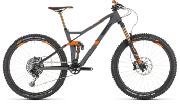 CUBE Stereo 140 HPC TM 27.5 grey´n´orange 2019