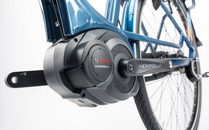 Detail image of Cube Travel Hybrid Pro 500 smoky blue´n´flashorange 2017 (17)