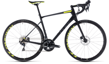 CUBE Attain GTC SLT Disc carbon´n´flashyellow 2018
