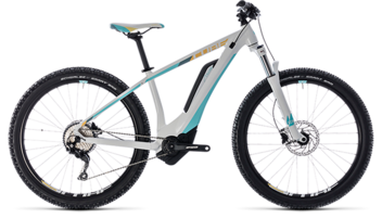 CUBE Access Hybrid Pro 400 white´n´blue 2018