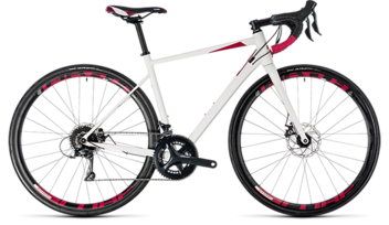 CUBE Axial WS Pro Disc white´n´berry 2018