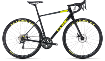 CUBE Attain Race Disc black´n´flashyellow 2018