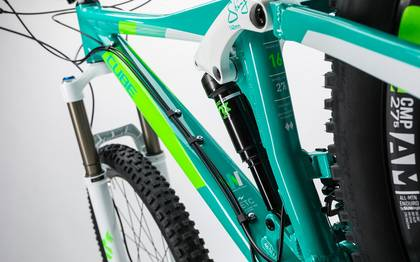 Detail image of Cube Sting WLS 140 Race 27.5 2x mint´n´green 2017 (2)