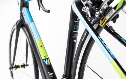 Detail image of Cube Axial WLS GTC Pro carbon´n´blue 2017 (6)