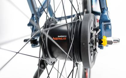 Detail image of Cube Travel Hybrid Pro 500 smoky blue´n´flashorange 2017 (19)