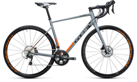 CUBE Attain Race Disc grey´n´flashorange 2017
