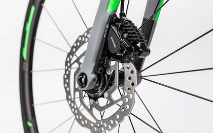 Detail image of Cube Attain GTC Pro Disc grey´n´flashgreen 2017 (14)