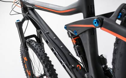 Detail image of Cube Stereo 140 C:62 Race 27.5 carbon´n´flashorange 2017 (4)