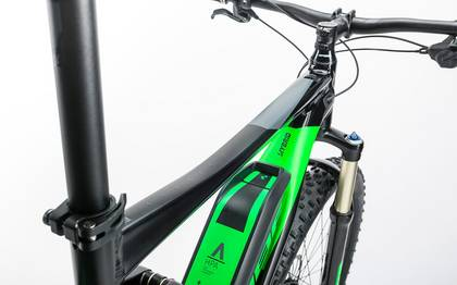 Detail image of Cube Stereo Hybrid 120 HPA Race 500 27.5+ black´n´green 2017 (4)
