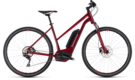 CUBE Cross Hybrid Pro 400 darkred´n´red 2018