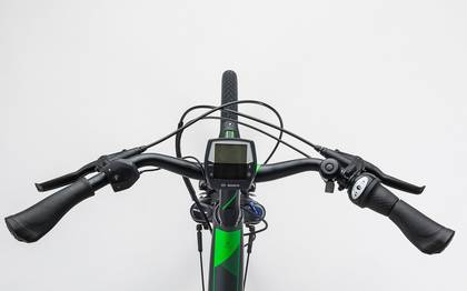 Detail image of Cube Travel Hybrid Pro RT 500 grey´n´flashgreen 2017 (1)