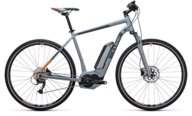 CUBE Cross Hybrid ONE 400 grey´n´orange 2017