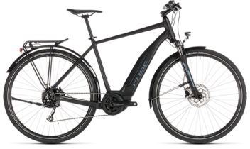 CUBE Touring Hybrid ONE 500 black´n´blue 2019