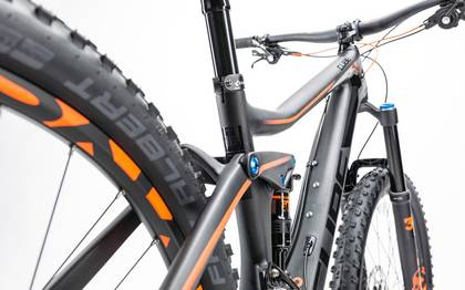 Detail image of Cube Stereo 140 C:62 Race 27.5 carbon´n´flashorange 2017 (11)