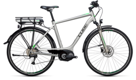 CUBE Touring Hybrid ONE 400 silver´n´flashgreen 2017