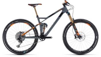 CUBE Stereo 140 HPC TM 27.5 grey´n´orange 2018