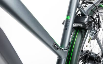 Detail image of Cube Travel Hybrid Pro 500 grey´n´flashgreen 2017 (13)