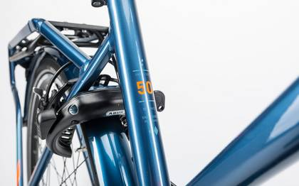 Detail image of Cube Travel Hybrid Pro 500 smoky blue´n´flashorange 2017 (6)