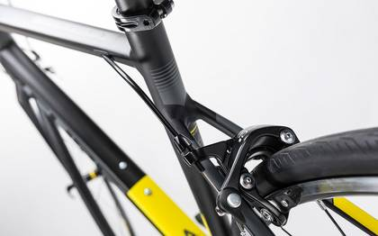 Detail image of Cube Attain SL black´n´yellow 2017 (8)