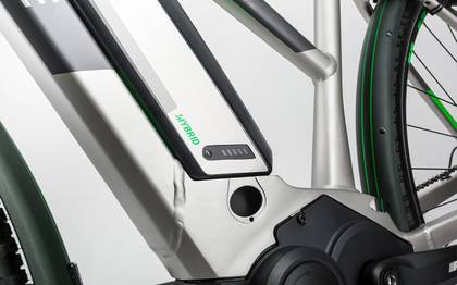 Detail image of Cube Cross Hybrid Race Allroad 500 silver´n´green 2017 (10)