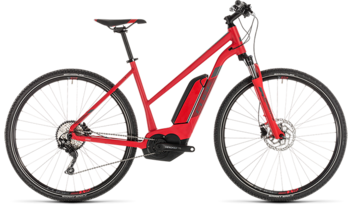CUBE Cross Hybrid Pro 500 red´n´grey 2019