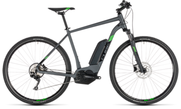 CUBE Cross Hybrid Pro 400 iridium´n´green 2019