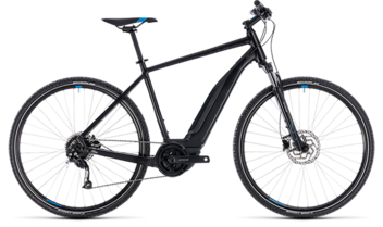 CUBE Cross Hybrid ONE 400 black´n´blue 2018