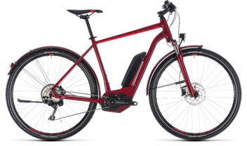 CUBE Cross Hybrid Pro Allroad 500 darkred´n´red 2018