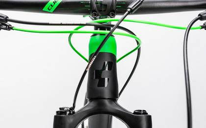 Detail image of Cube Reaction GTC Race 2x carbon´n´green 2017 (7)