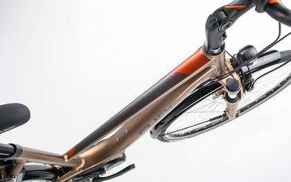 Detail image of Cube Travel Hybrid 500 havanna brown´n´orange 2017 (2)