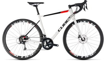 CUBE Attain Pro Disc white´n´red 2018