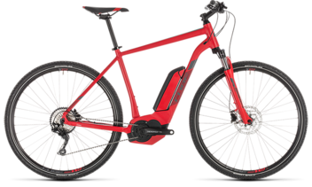 CUBE Cross Hybrid Pro 400 red´n´grey 2019