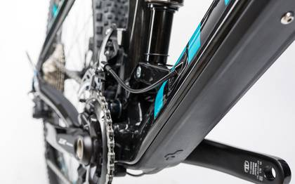 Detail image of Cube Stereo 160 C:62 Race 27.5 carbon´n´blue 2017 (7)