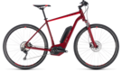 CUBE Cross Hybrid Pro 500 darkred´n´red 2018