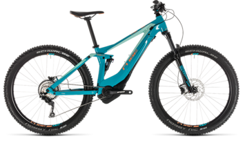 CUBE Sting Hybrid 120 Race 500 turquoise´n´apricot 2019