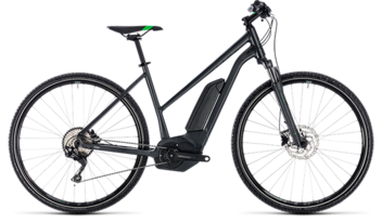 CUBE Cross Hybrid Pro 400 grey´n´flashgreen 2018