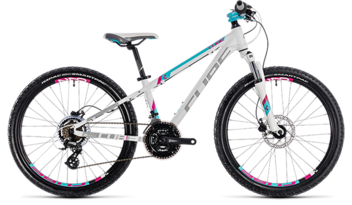 CUBE Kid 240 Disc girl white´n´aqua 2018