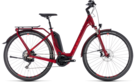 CUBE Touring Hybrid EXC 500 darkred´n´red 2018