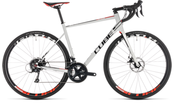 CUBE Attain Pro Disc white´n´red 2019