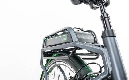 Detail image of Cube Travel Hybrid Pro 500 grey´n´flashgreen 2017 (8)