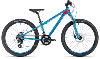 CUBE Kid 240 Disc blue´n´flashred 2018