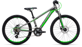 CUBE Kid 240 Disc grey´n´flashgreen 2017