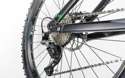Detail image of Cube Stereo Hybrid 120 HPA Race 500 27.5+ black´n´green 2017 (15)
