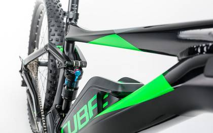 Detail image of Cube Stereo Hybrid 120 HPA Race 500 27.5+ black´n´green 2017 (6)