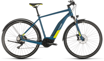 CUBE Nature Hybrid EXC 500 Allroad blue´n´lime 2020