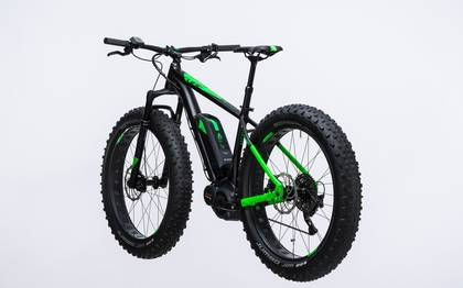 Detail image of Cube Nutrail Hybrid 500 black´n´green 2017 (12)